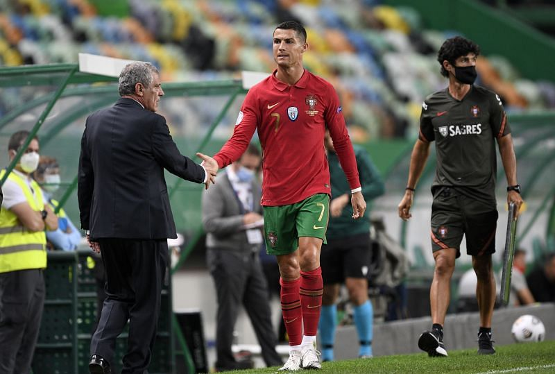 Ronaldo and Portugal coach Fernando Santos