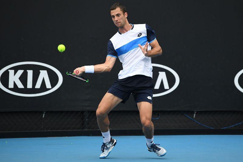 Laslo Djere at the 2020 Australian Open in Melbourne