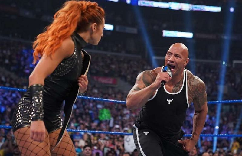 Becky Lynch and The Rock