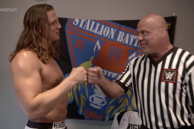 Kurt Angle and Matt Riddle
