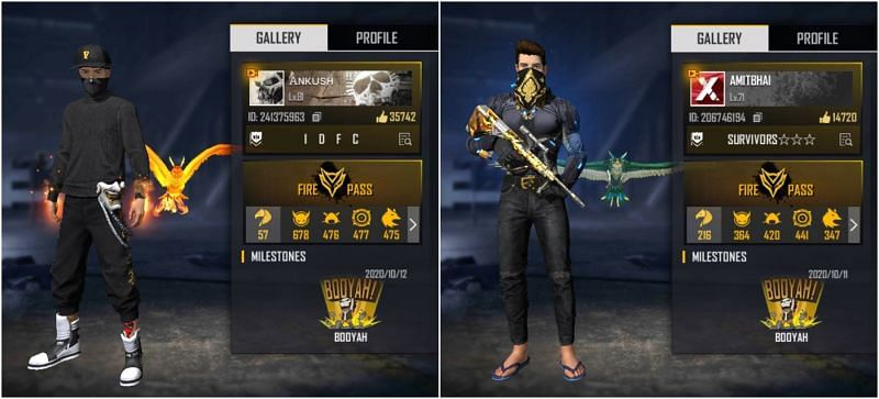 Who has better stats between Ankush Free Fire and Desi Gamers in Free Fire?