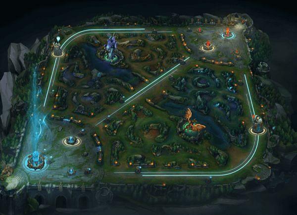 The Wild Rift Map