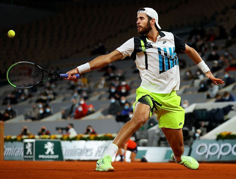 Karen Khachanov at the 2020 French Open