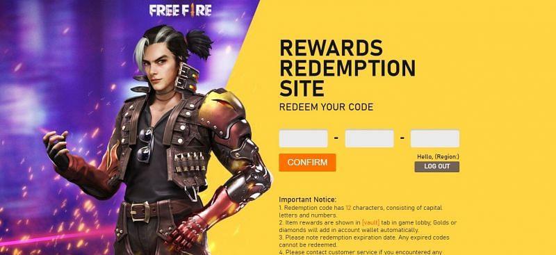 Free Fire redemption center