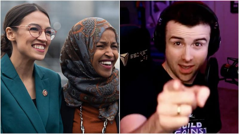 DrLupo recently defended Ilhan Omar and AOC from a fan
