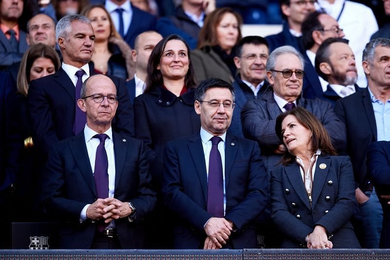 Barcelona president Josep Baromeu has come under from Lionel Messi again