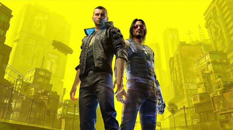 Keanu Reeves as Johnny Silverhand, with V in Cyberpunk 2077 (Image Credits: CD Projekt Red)