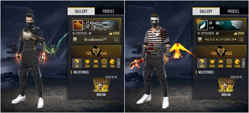 Who has better stats between Raistar and BNL in Free Fire?