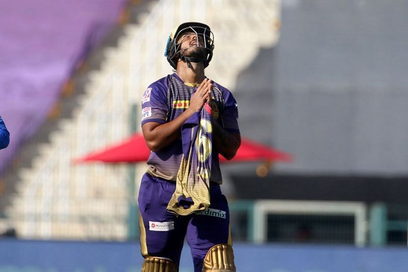 Nitish Rana celebrated his half-century with a tribute to his father-in-law (Image Credits: IPLT20.com)