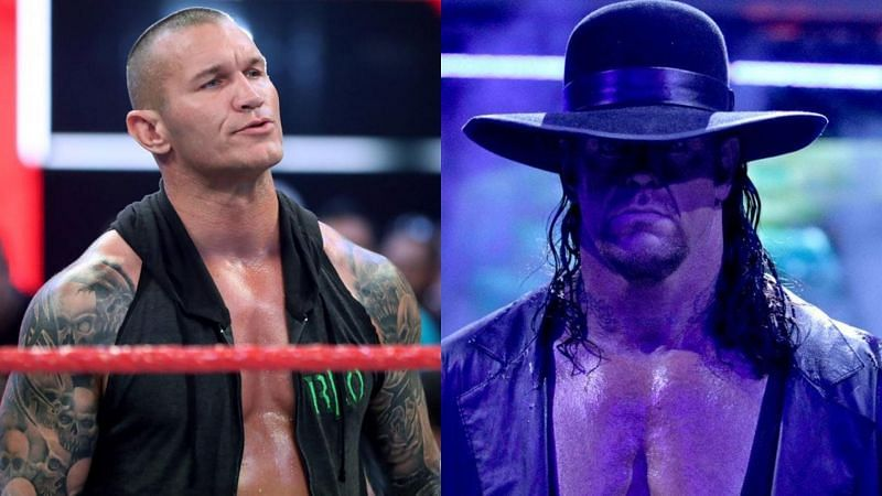 Randy Orton (left); The Undertaker (right)