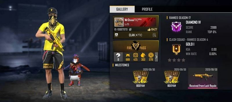MrStiven's Free Fire ID, stats, K/D ratio and more