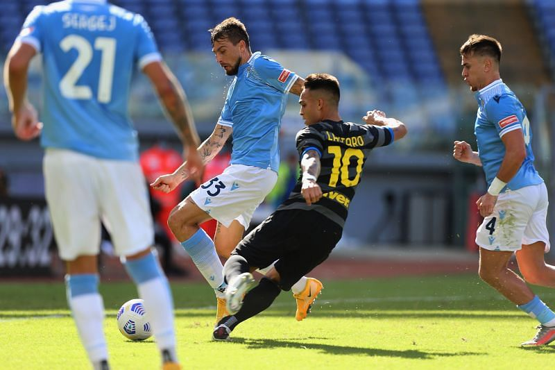 Lautaro Martinez has scored three goals in the Serie A for Inter Milan this season.
