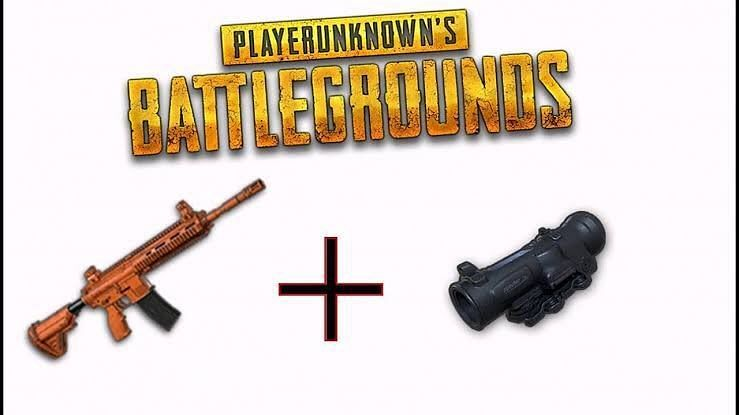 M416 and 6x scope in PUBG Mobile