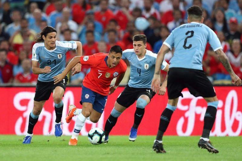 Uruguay beat Chile 1-0 in last year