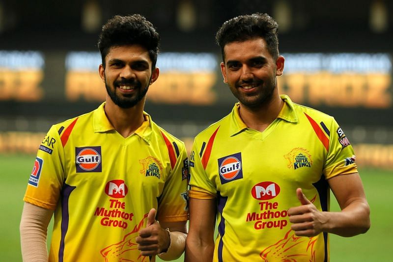 Ruturaj Gaikwad (L) and Deepak Chahar (R) were the architects of their victory against RCB on Sunday (Credits: IPLT20.com)