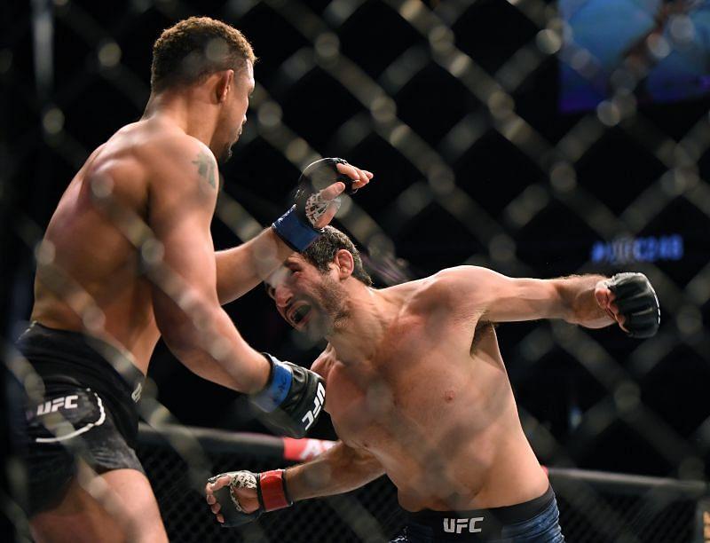 Beneil Dariush punches Drakkar Klose in a knockout win during UFC 248