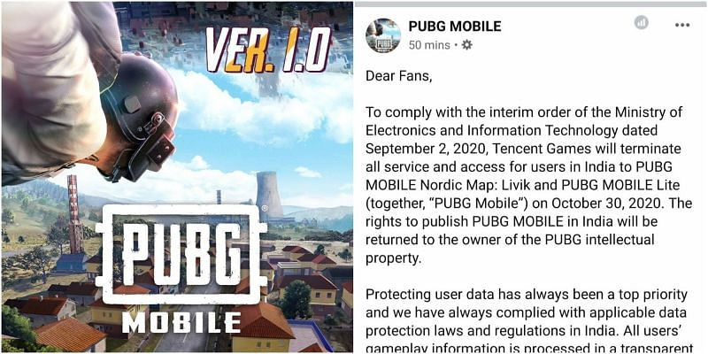 PUBG Mobile Lite to terminate access for users in India on October 30, 2020