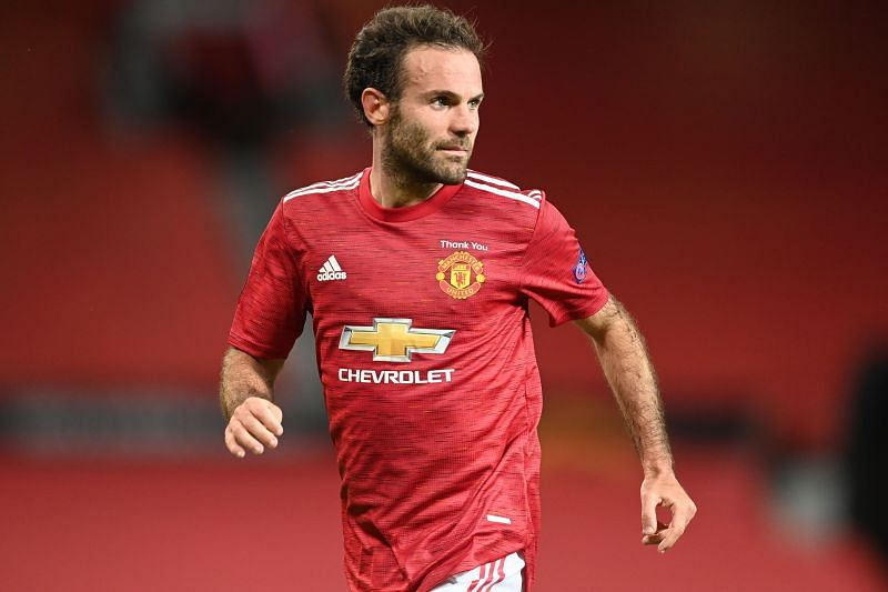 Juan Mata in Manchester United colours