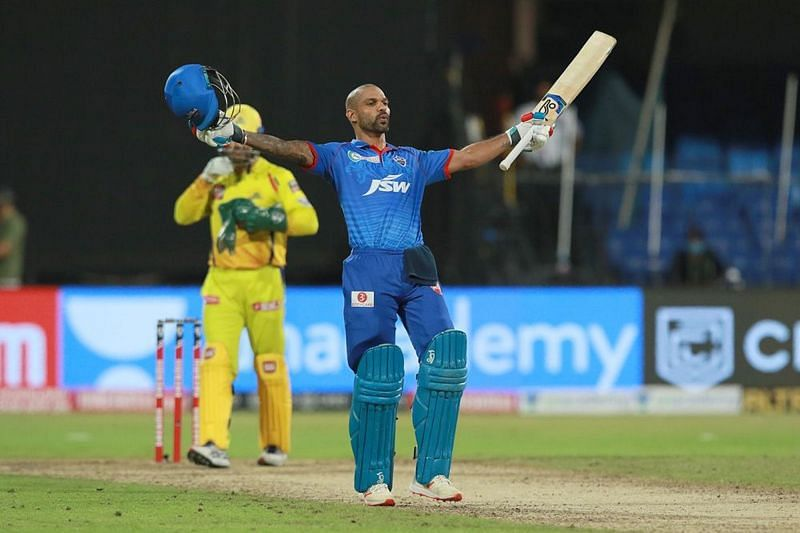 Shikhar Dhawan scored his maiden IPL century to move to the top of the IPL 2020 points table (Credits: IPLT20.com)