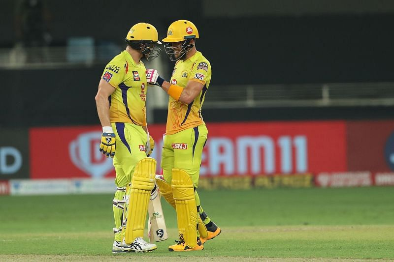 Shane Watson and Faf du Plessis helped CSK best KXIP by 10 wickets in IPL 2020 (Image credits: IPLT20.com)