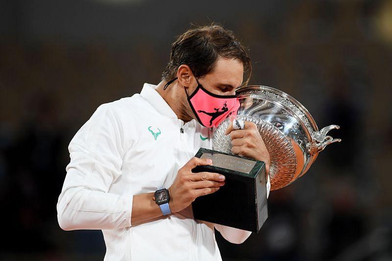 Rafael Nadal with the winner