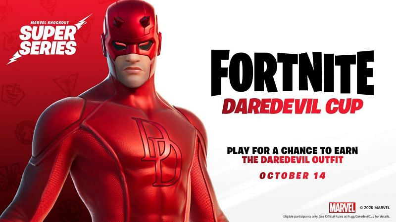 Top players would have a shot at getting the Daredevil skin early in Fortnite. (Image credit: Epic Games)