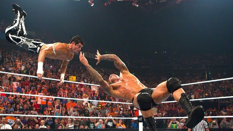 Evan Bourne and Randy Orton had quite a unique spot together during Bourne