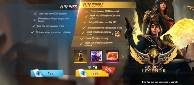 Price of both the variant in Free Fire
