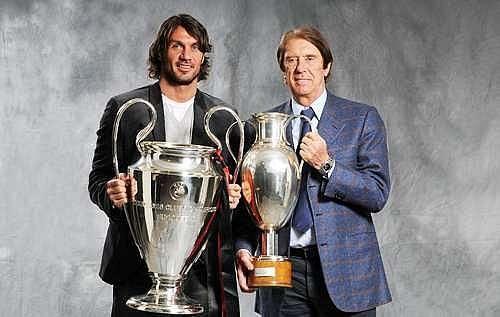 Paolo (left) and Cesare Maldini.