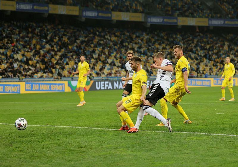 Matthias Ginter gave Germany the lead against Ukraine