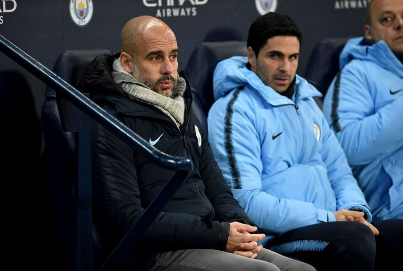 Pep Guardiola and Mikel Arteta once worked together