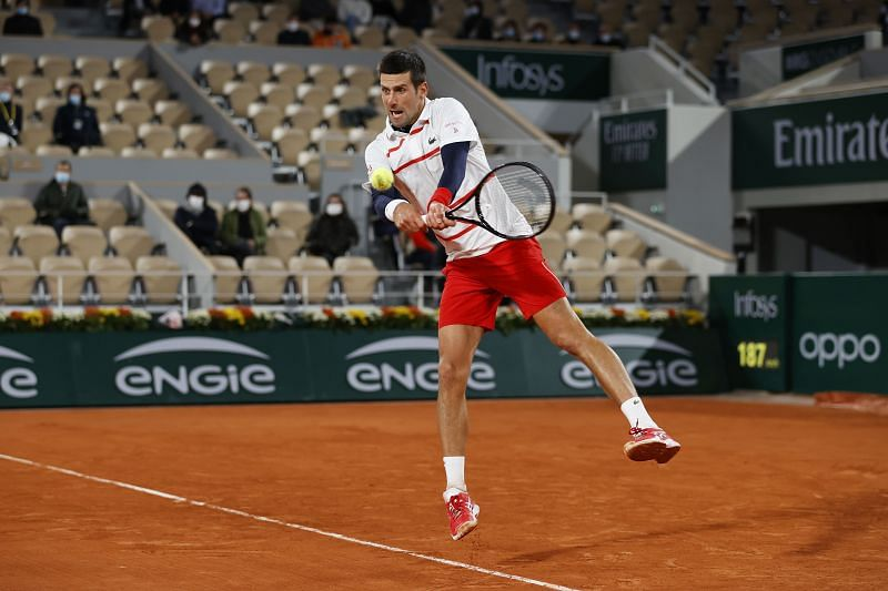 Novak Djokovic is through to the semi-finals of the French Open
