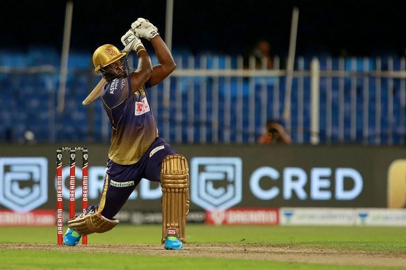 Dre Russ failed to bail KKR out of a chase that begged for an aggressive innings from him. [PC: iplt20.com]