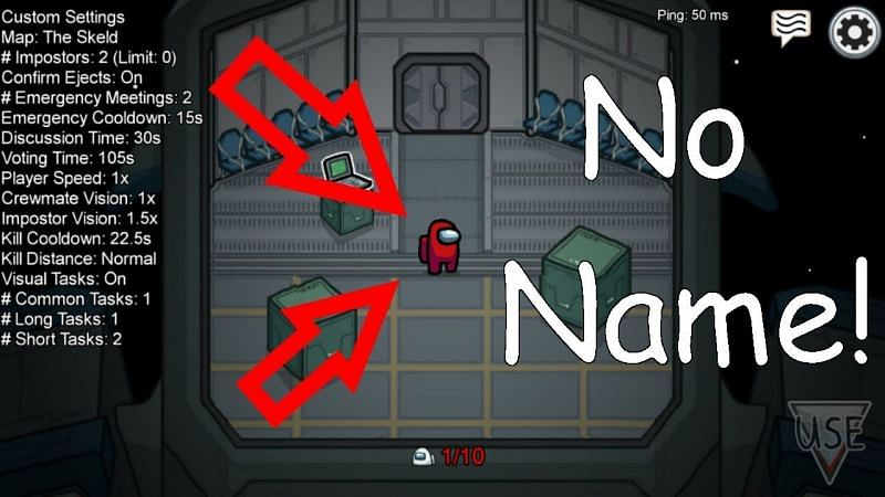 How to have no name in Among Us: Step by step guide (Image Credits: Among Us Content / YouTube)