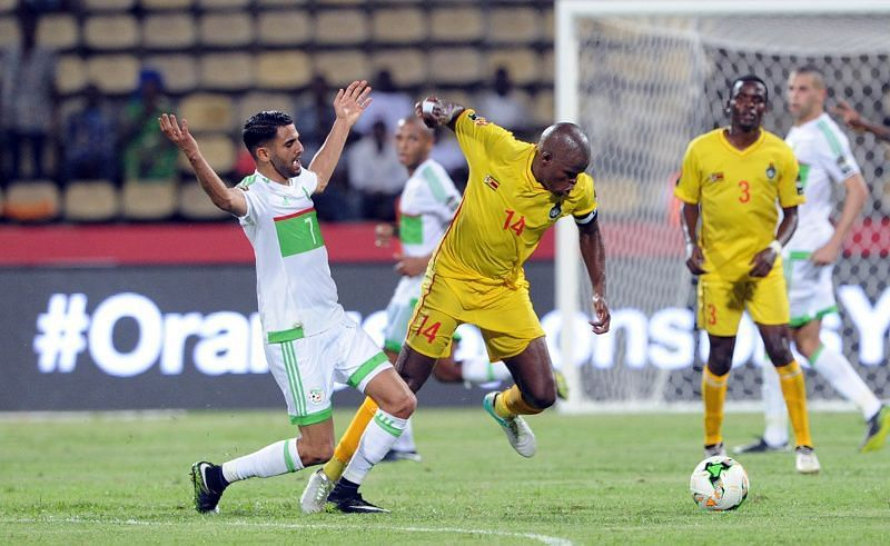 Reigning AFCON champions Algeria host Zimbabwe in Algiers in their Group H encounter
