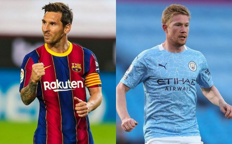 Lionel Messi and Kevin De Bruyne