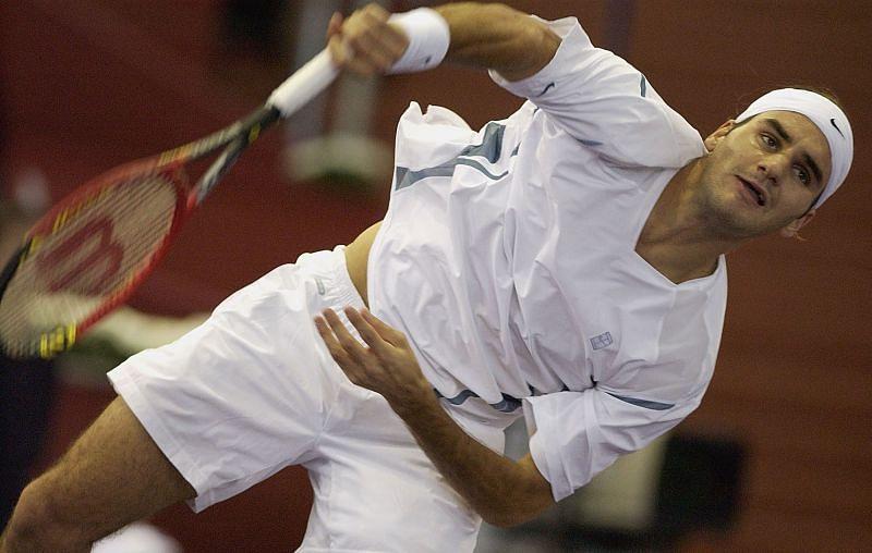 Roger Federer in 2002, a month after Carter