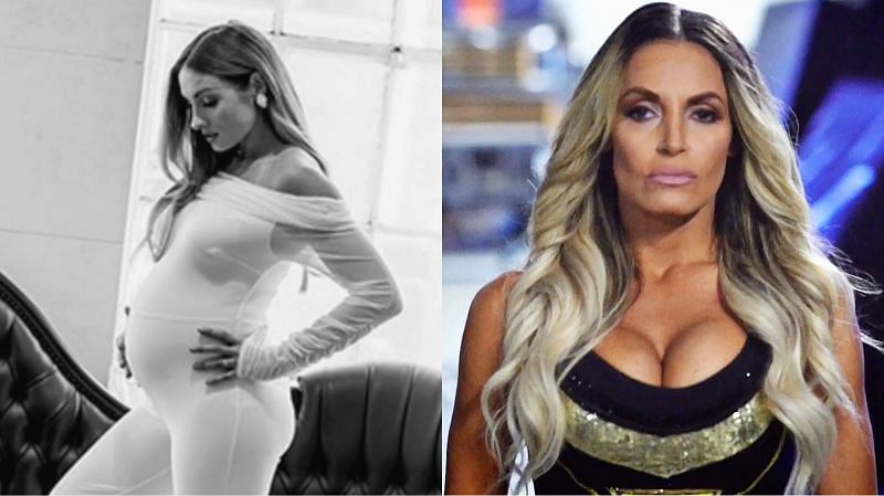 Becky Lynch (left) and Trish Stratus (right)
