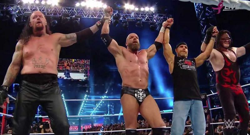 The Undertaker, Triple H, Shawn Michaels and Kane
