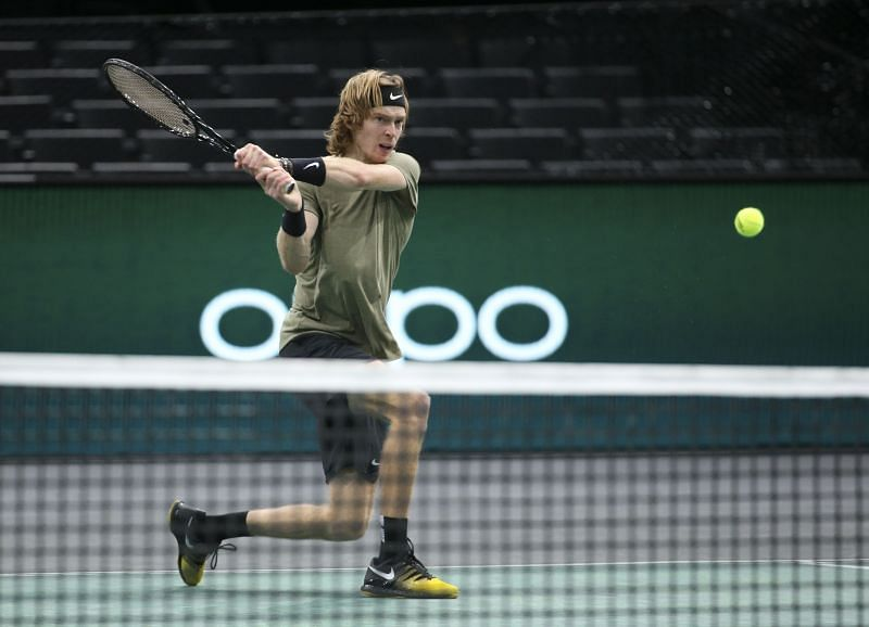 Andrey Rublev at the Paris Masters