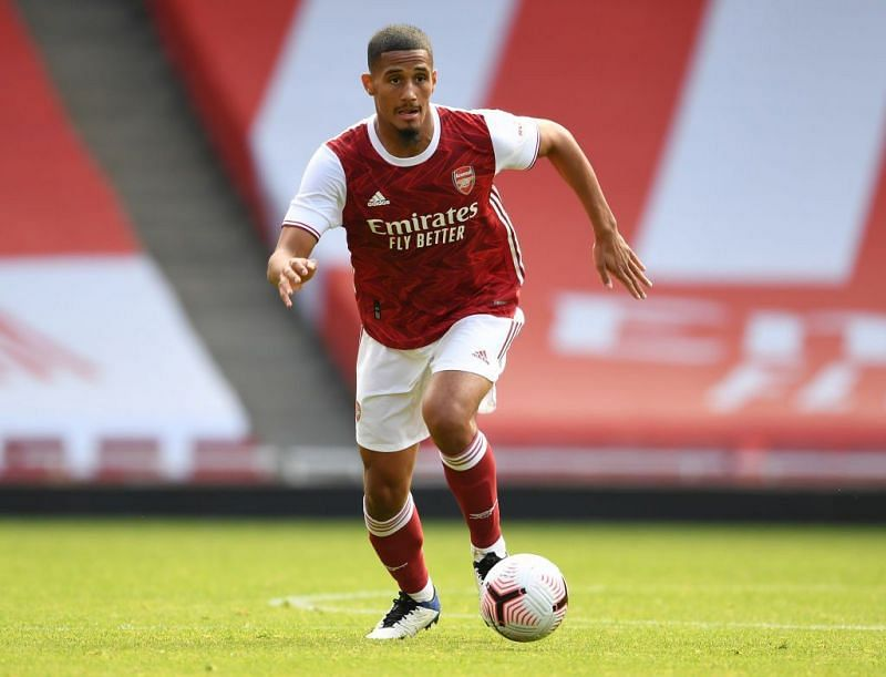 William Saliba is yet to appear for Arsenal in the Premier League.