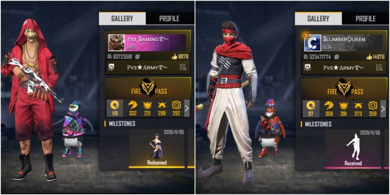 PVS Gaming vs Slumber Queen: Who has better stats in Free Fire?