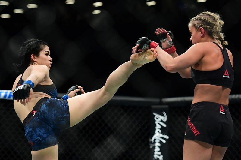 Rachael Ostovich (on the right) approved Derrick Lewis