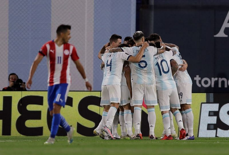 Argentina huffed and puffed, but were held to a 1-1 draw by Paraguay