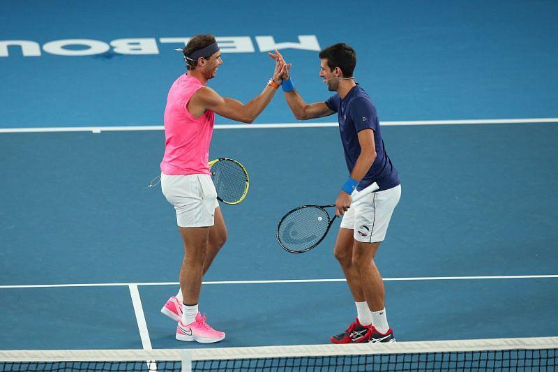 Rafael Nadal and Novak Djokovic disagree on a hot topic