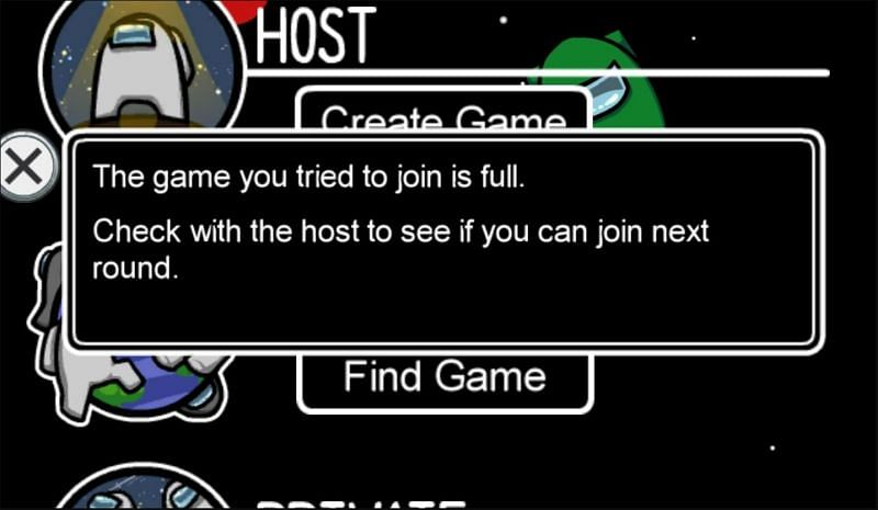 Can T Join Among Us Lobbies That Still Have Player Slots Left Here Is How You Can Fix That
