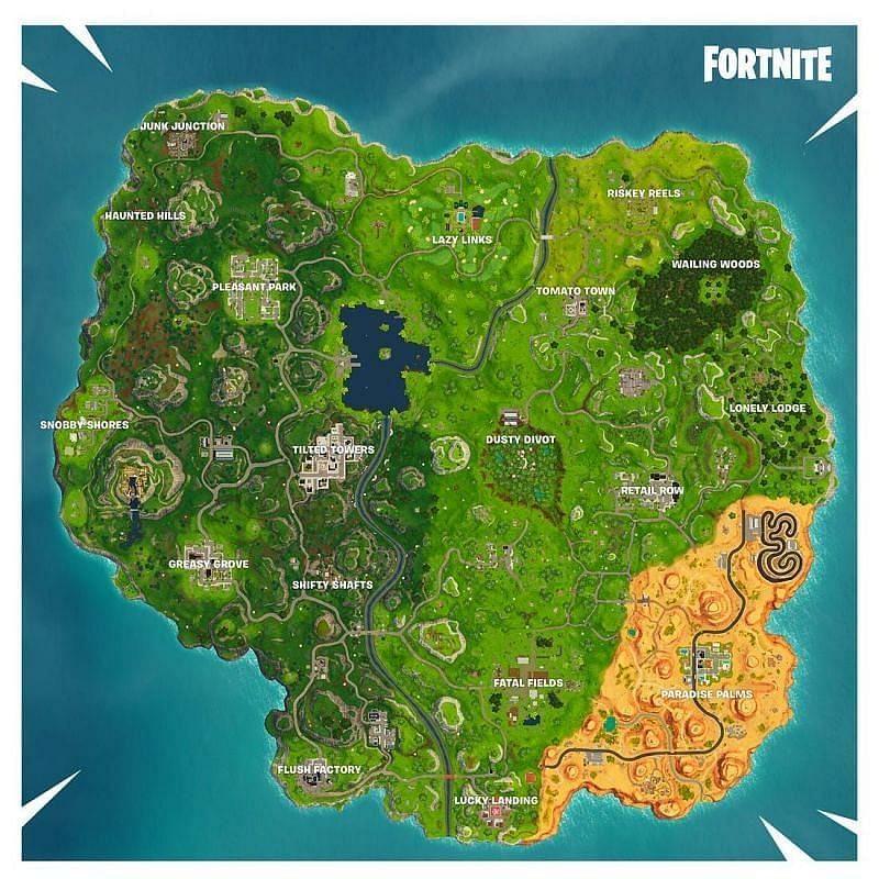 The OG Fortnite Map - Sportskeeda