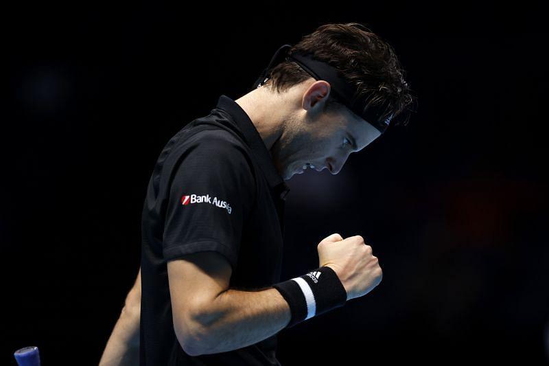 Dominic Thiem at the 2020 Nitto ATP Finals.