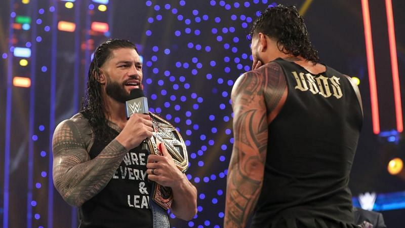 Universal Champion Roman Reigns and Jey Uso