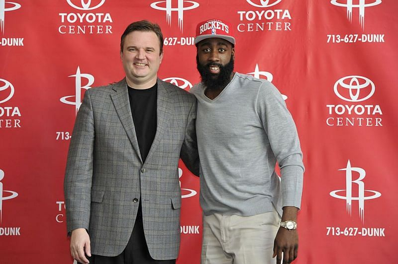 Daryl Morey and James Harden